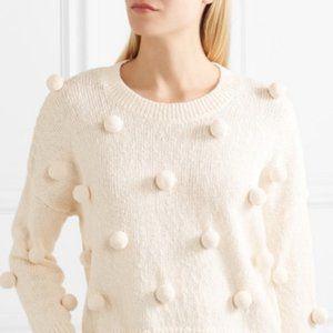 NWT Madewell Cream Pom Pom Sweater